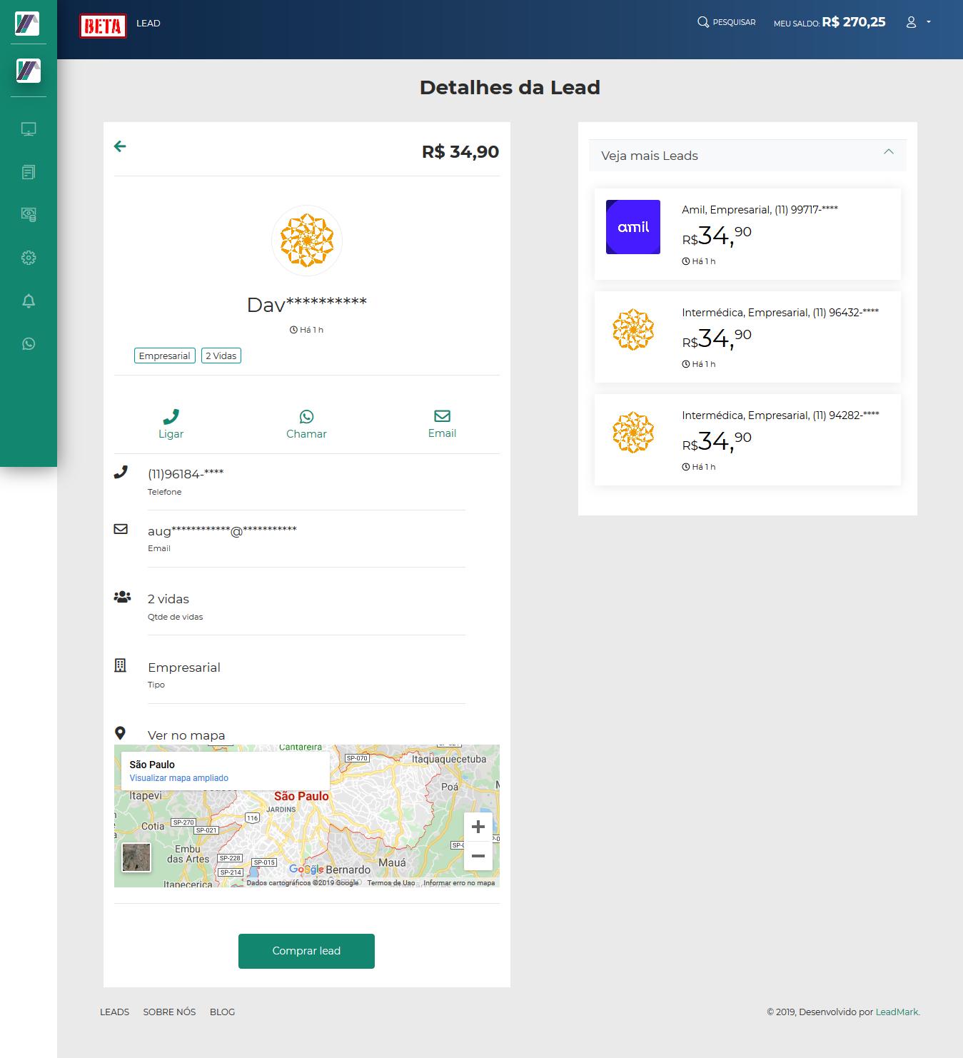 Screenshot 2019 10 18 LeadMark BETA Lead