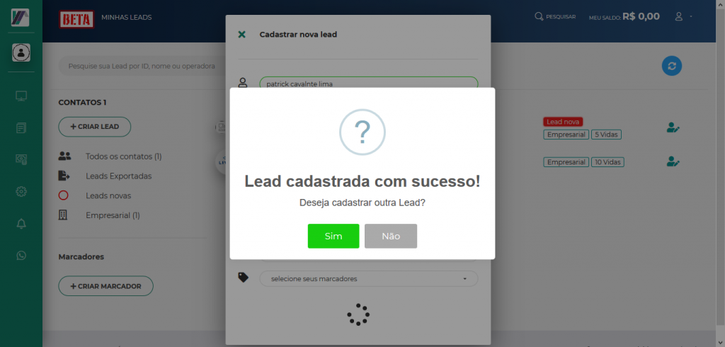 Screenshot 2019 10 22 LeadMark BETA Minhas Leads