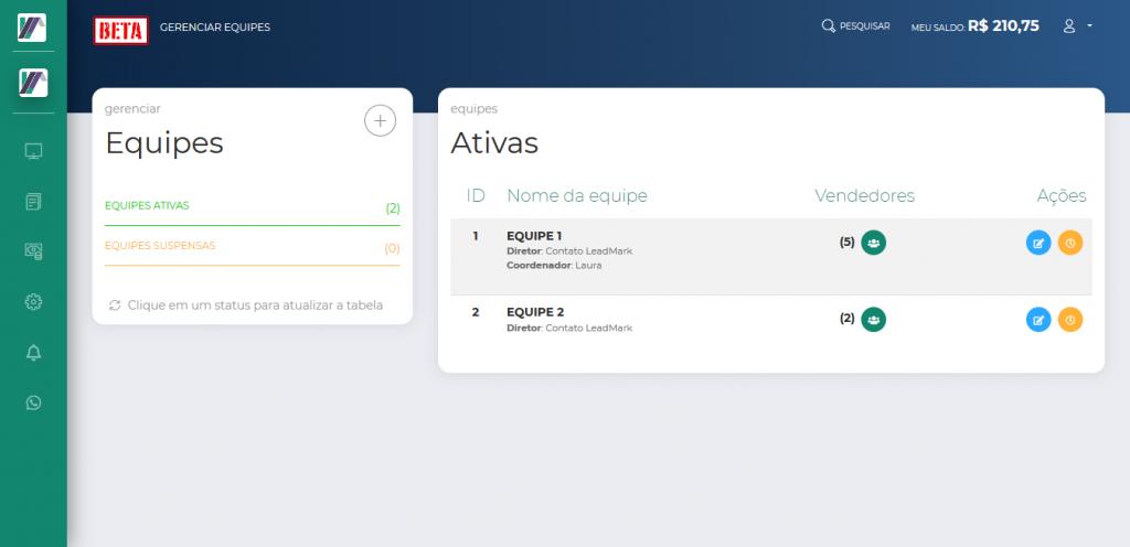 Screenshot 2019 10 24 LeadMark BETA Gerenciar Equipes