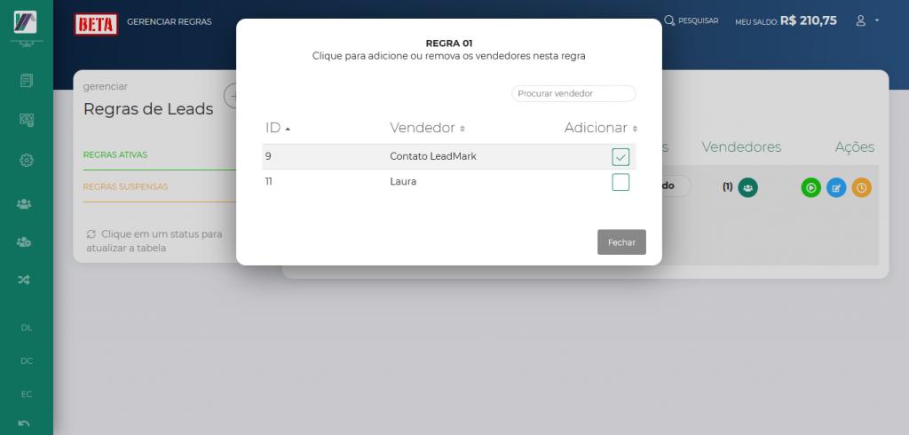Screenshot 2019 10 24 LeadMark BETA Gerenciar Regras 3