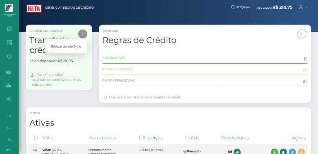 Screenshot 2019 10 24 LeadMark BETA Gerenciar Regras de Crédito