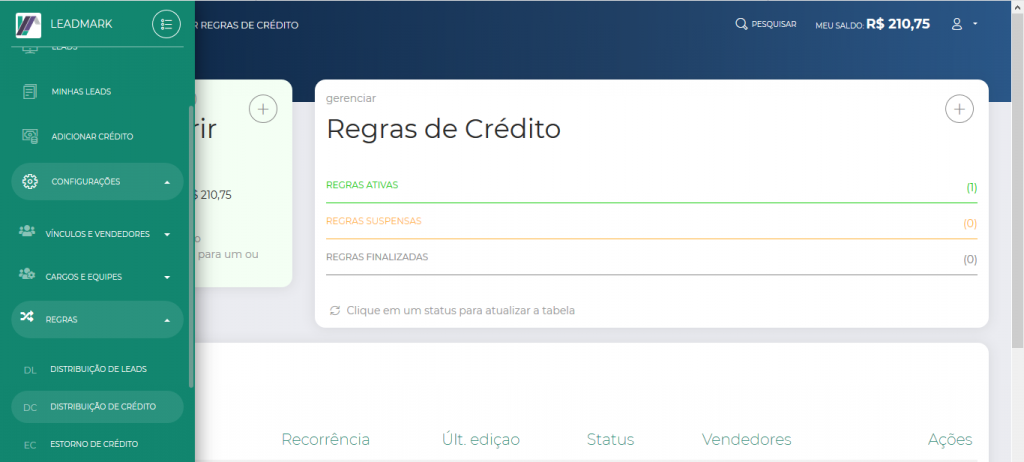 distribuição de creditos 1