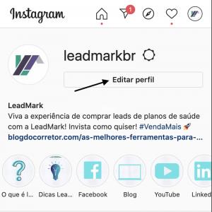 Como colocar o link no Instagram