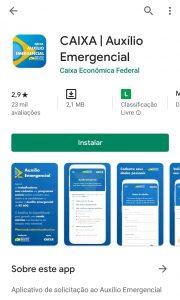 Baixe o app para o auxílio emergencial