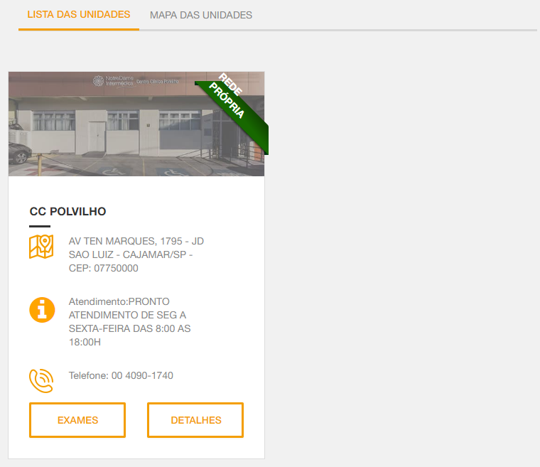 resultado busca intermédica Cajamar