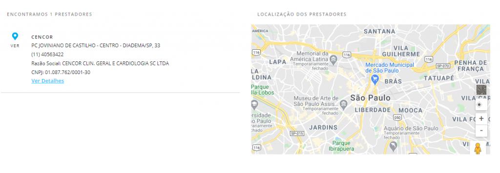 resultado busca porto seguro saúde Diadema