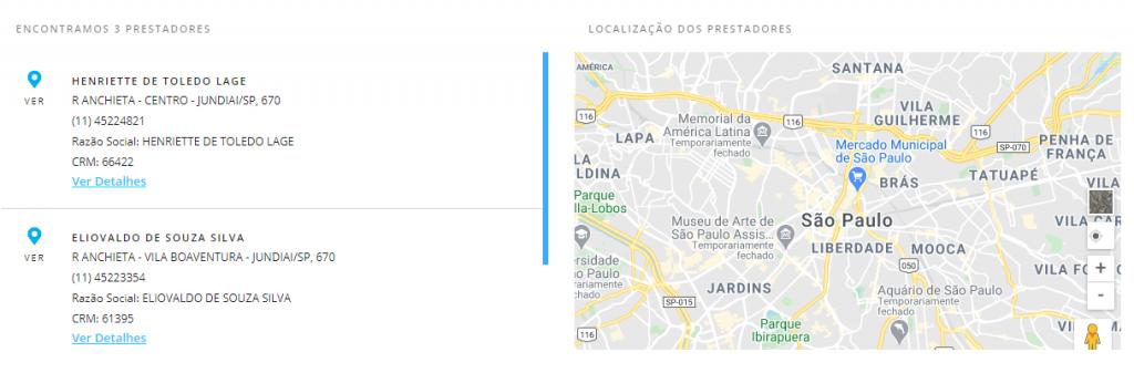resultado busca porto seguro saúde Jundiaí