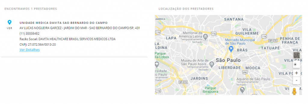 resultado busca porto seguro saúde São Bernardo do Campo