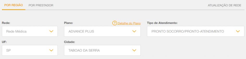 seleção informações intermédica Taboão da Serra